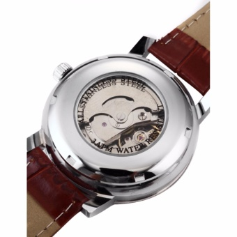 WINNER Classic Mens Skeleton Dial Automatic Mechanical Date Retro Brown Leather Watch PMW044 - intl - 4