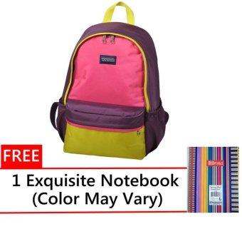 Winpard Backpack 9928(Purple/Yellow/Rose)