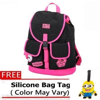 Winpard Backpack Bag 1937 (Black/Rose Pink)