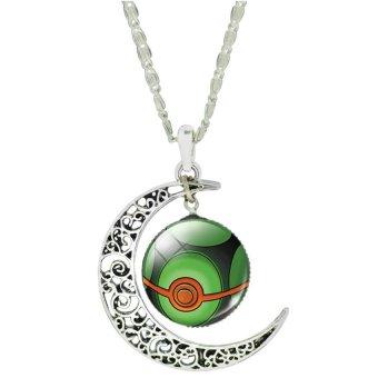 Women Fashion Pokemon Pokeball Pendant Necklace (D)