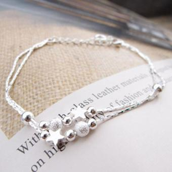 Women Silver Plated Chain Anklet Beads Ankle Bracelet for FootJewelry - intl - 2