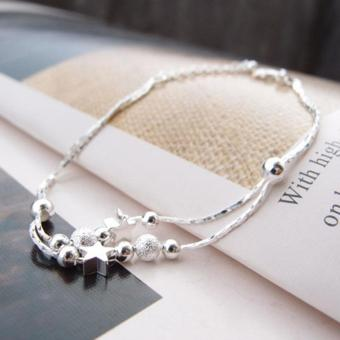 Women Silver Plated Chain Anklet Beads Ankle Bracelet for FootJewelry - intl - 4