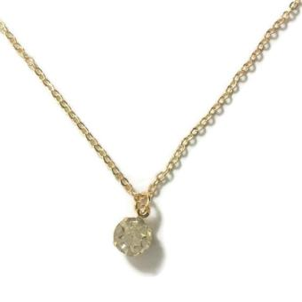Women's Fashion Diamond Pendant Gold Dipped Necklace 2g - 2