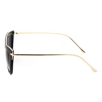Women's Sun Glass UV Protection UV400 Cat Eye Shades Sunglasses Black - intl - 2