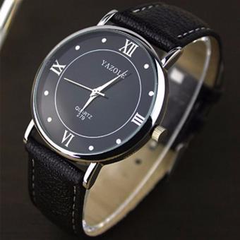 Yazole #279 (Black) High Quality Strap Fashion Easy-matchingCompact Quartz Wristwatch - 2