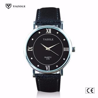 Yazole #279 (Black) High Quality Strap Fashion Easy-matchingCompact Quartz Wristwatch - 3