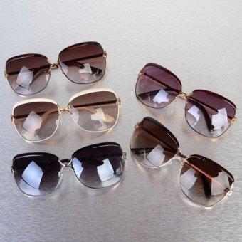YBC Women Metal Frame Sunglasses Alloy Legs Glasses - intl - 2