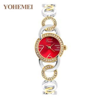 YOHEMEI New Fashion Ladies Watch Watches Luxury Top Brand ElegantWristwatches for Women Rhinestone Quartz Watch 0192 - Gold - intl - 5