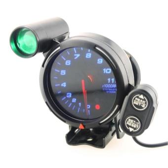 YOSOO 3.75 Inch 12V Car Tachometer Gauge 11000 RPM Blue LED withShift Light - intl - 3