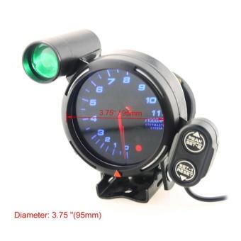 YOSOO 3.75 Inch 12V Car Tachometer Gauge 11000 RPM Blue LED withShift Light - intl - 2
