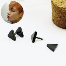 Youpop KPOP BTS Bangtan Boys Album Double Triangle Stud EarringsKorean Jewelry Accessories For Men And Women