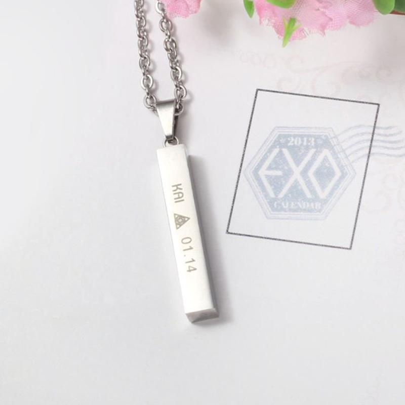 Youpop KPOP EXO KAI EXACT Monster Lucky One Chain Pendant NecklaceK-POP .