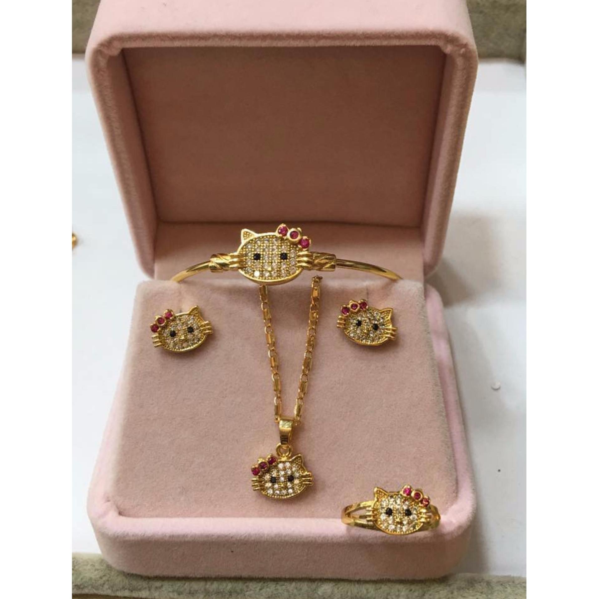 Kids gold jewelry set