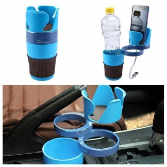 zeawhc Adjustable Car Cup Holder 5 In 1 Car Cup Holder Adapter 3 360°Rotation Layers Create More Space For Collection Car Storage Cup - intl