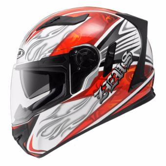 Zeus Full-Face ZS-813 Graphics Helmet (AN2 White/Red)