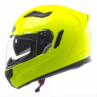 Zeus Full-Face ZS-813 Solid Helmet (Hi-Viz Yellow) - 2