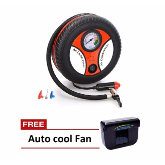 Zover Air Compressor Tire Pump,Portable Electric Mini 12V 260PSICar Auto Tire Inflator with Tire Pressure Gauge with FREE Auto CoolSolar Powered Air Cooler Ventilation