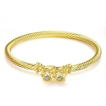 ZUNCLE Antiallergic 2015 New Fashion Jewelry 18K Gold Plated Bracelets(Gold)