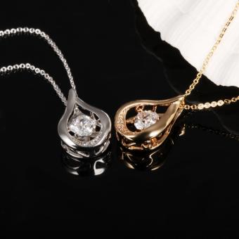 ZUNCLE Drop-type diamond pendant necklace Women valentines(Golden) - picture 2