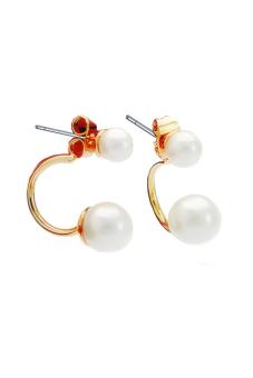 ZUNCLE Korea C-type Pearl Earrings (Gold)