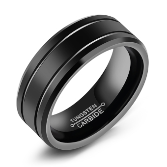 ZUNCLE Lord of the Rings Men's Retro Punk Tungsten Steel RockRing(Black)-US Size