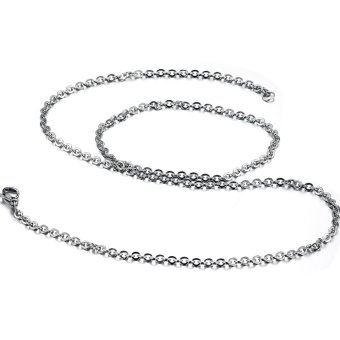 ZUNCLE Unisex with chain titanium steel couple Necklace(Silver) - picture 2