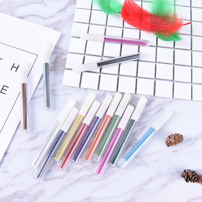 6Pcs  2.0mm Colored Mechanical Pencil Fefill Lead Erasable Student Stationary HI