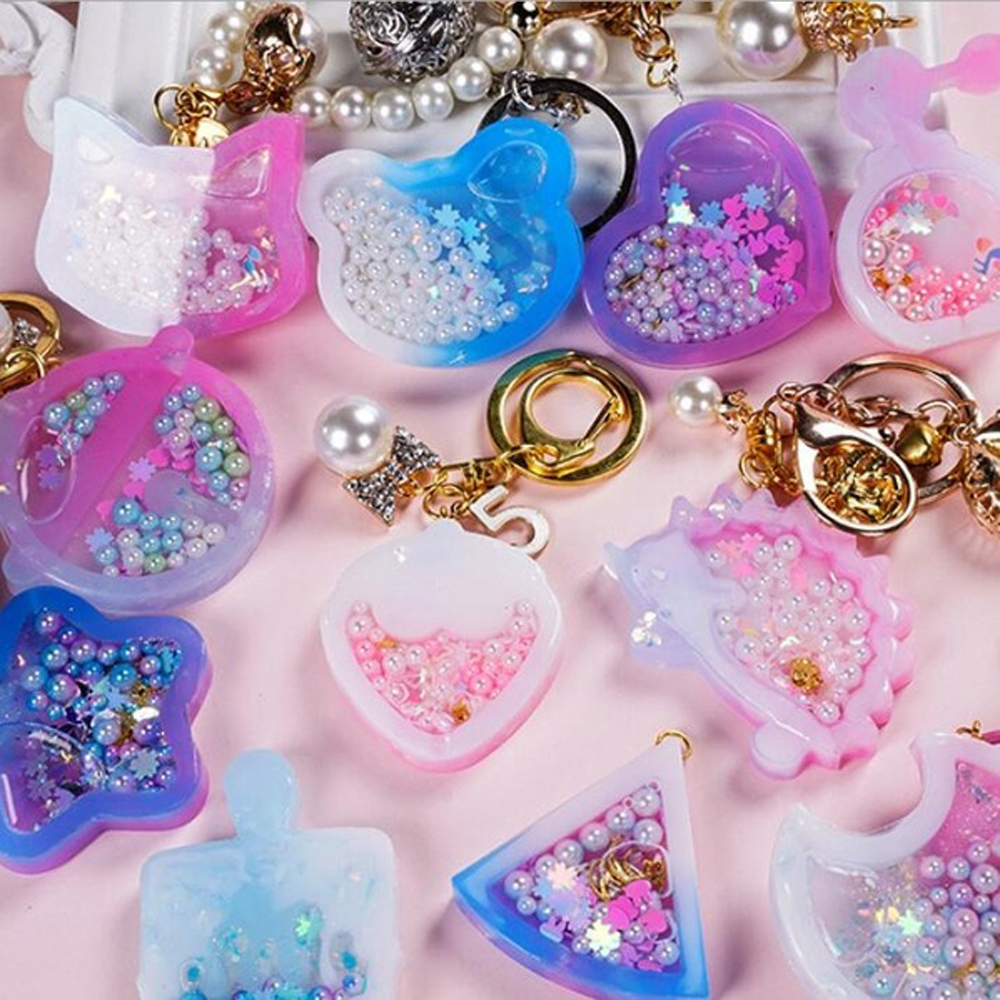 DIY Silicone Mold Crystal Cat Claw Moon Star Love Mould Pendant Silicone Mould Cat