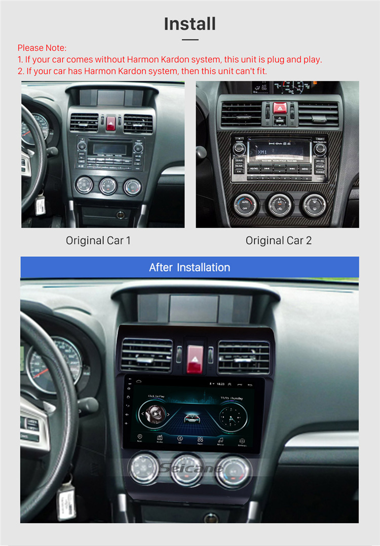9 inch Android 8.1GPS Navi Stereo for 2013 2014 Subaru XR Forester Impreza with WIFI USB AUX support Rearview camera OBD II