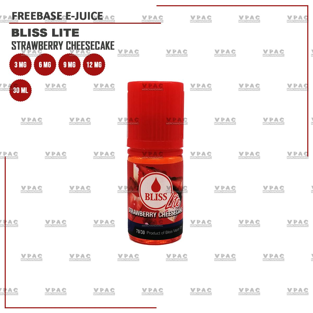 Bliss Lite Strawberry Cheesecake 30ML [3MG, 6MG, 9MG  12MG Vape Juice]