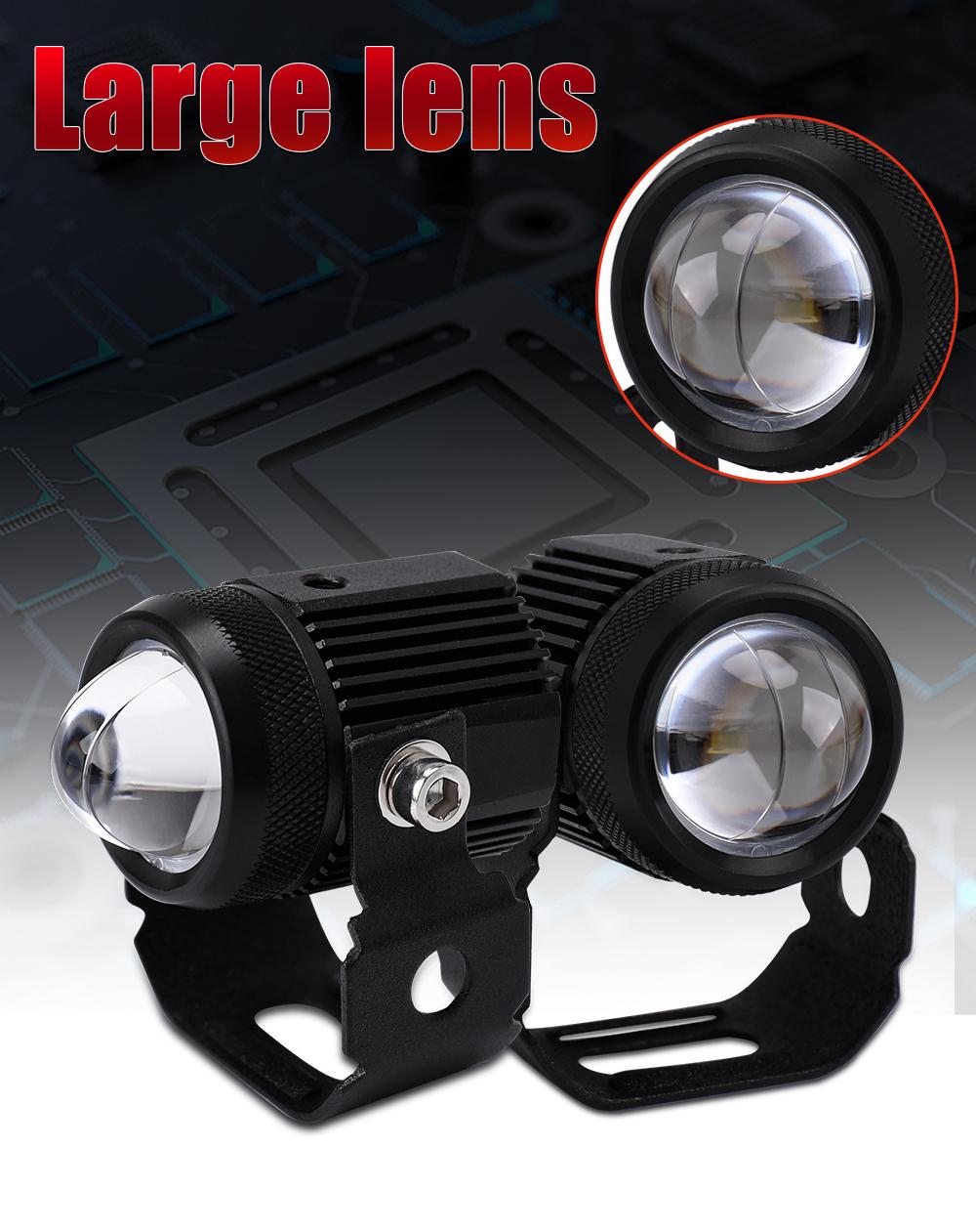 Motorcycle Auxiliary Lamp Fog Light Headlight,yellow White Waterproofspotlight Light,with Mounting Bracket Switch White Light