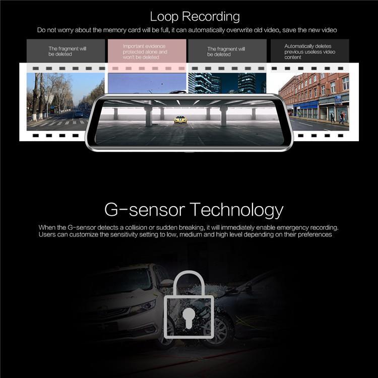Car Dash Camera Back Up Camera For Car Car Rear Camera Reverse Camera For  Car Hd Driving Recorder Rearview Mirror Dashcam Dual Lens Rearview Mirror