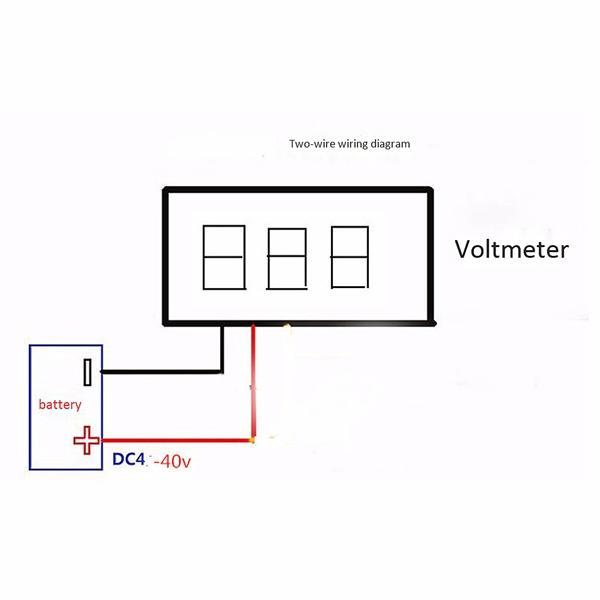 0 56 Inch Mini Dc 0v 30v Voltmeter Led Display Volt Meter Digital Panel Meter Blue Lazada Ph