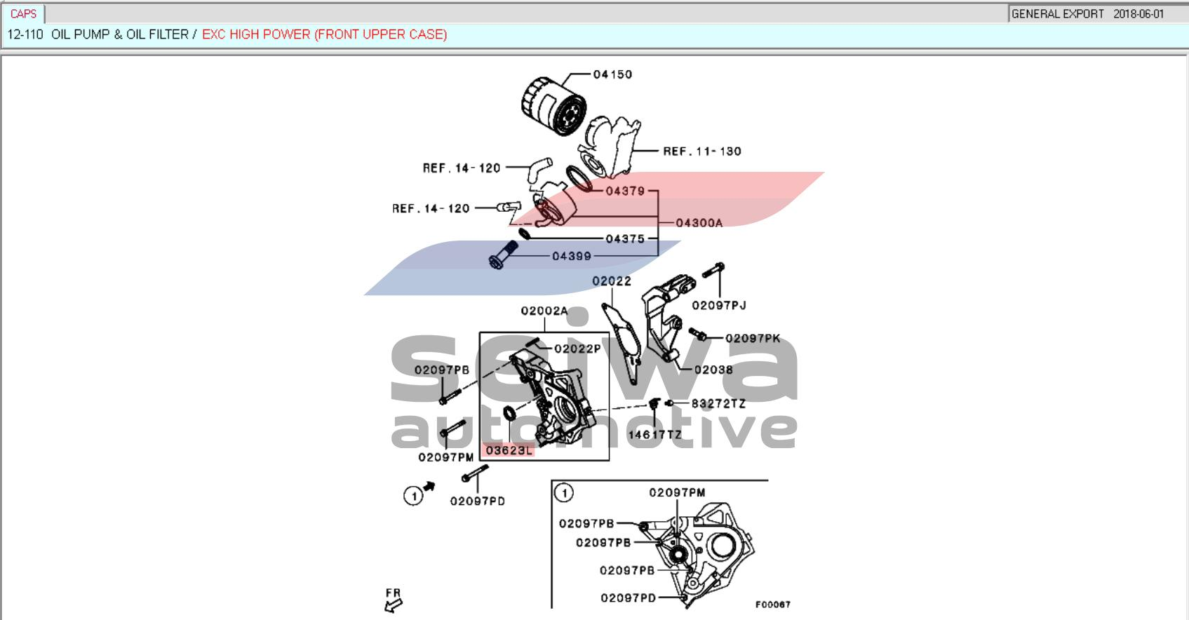 Mitsubishi Montero 2008-2015 GEN2 - Oil Seal Package for Timing Belt  replacement - Genuine Mitsubishi Auto Parts