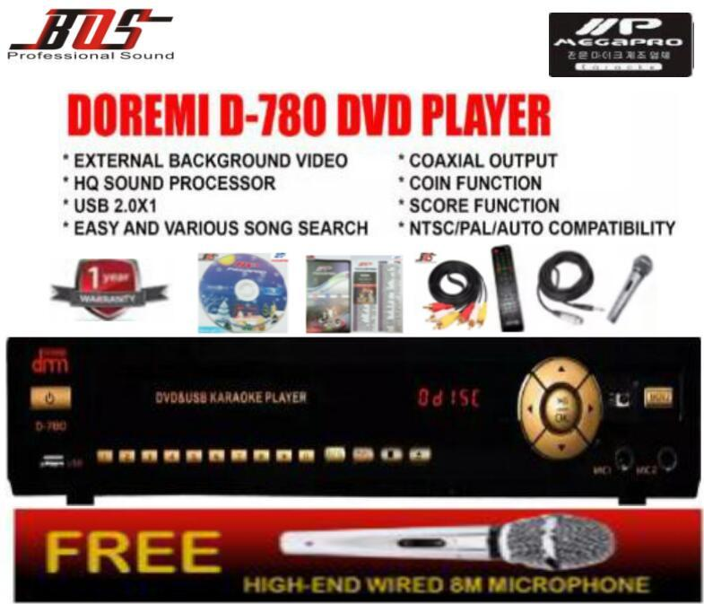 MP Megapro D-799 DoReMi Karaoke Player + DVD + Songbook +