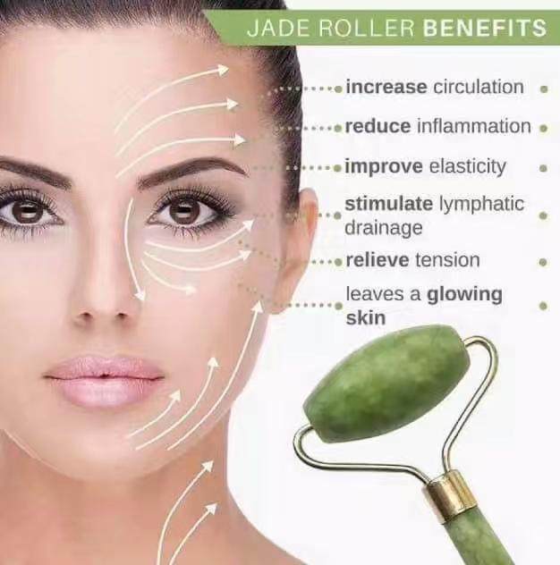 Four Season Beauty Facial Massage Tool Jade Roller Face Thin massager Sleep  & Wellness Premium Anti-Aging Jade Roller For Facial Massage Therapy -
