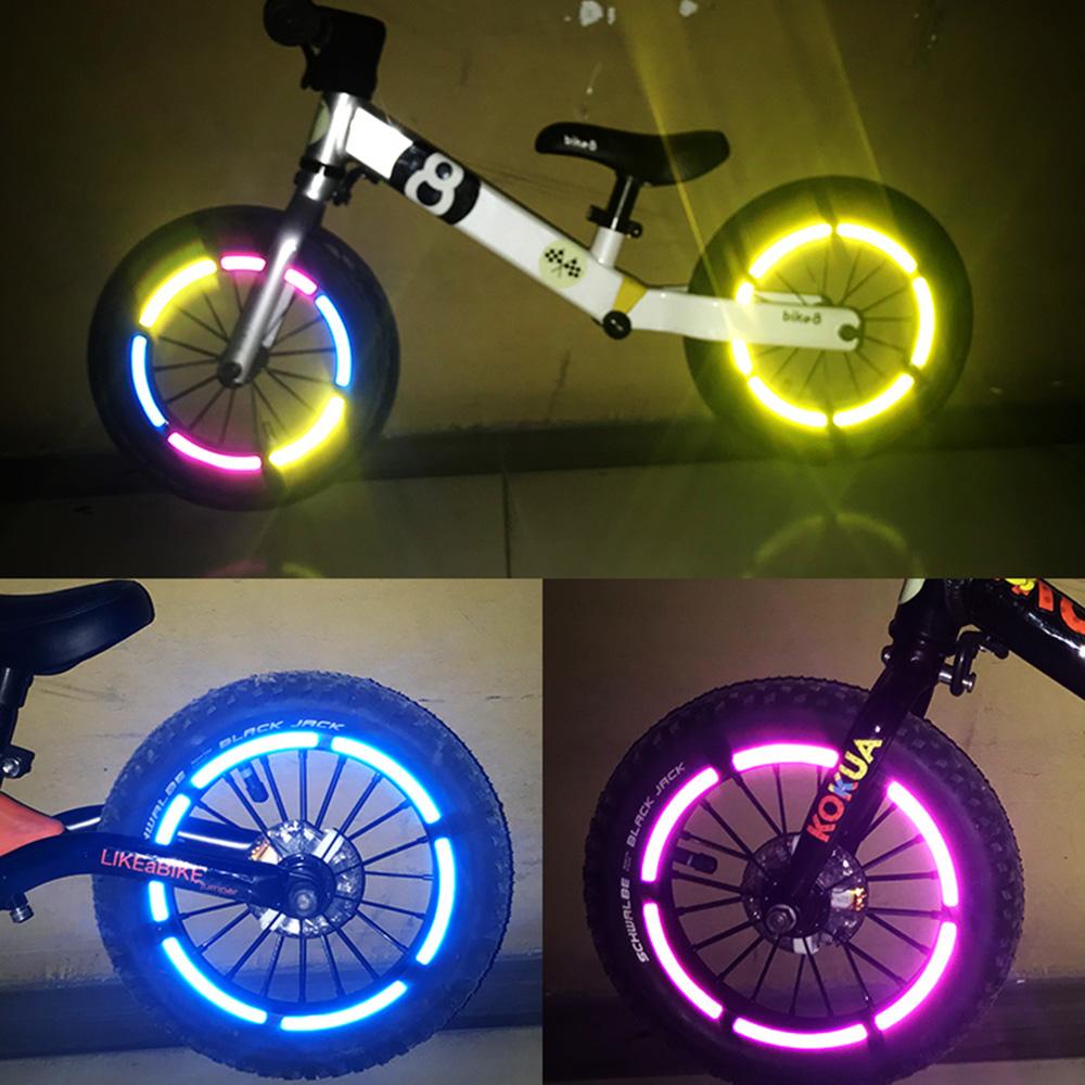 Decals Bike Reflective Stickers Tire Applique Tape Children Balance Bicycle
