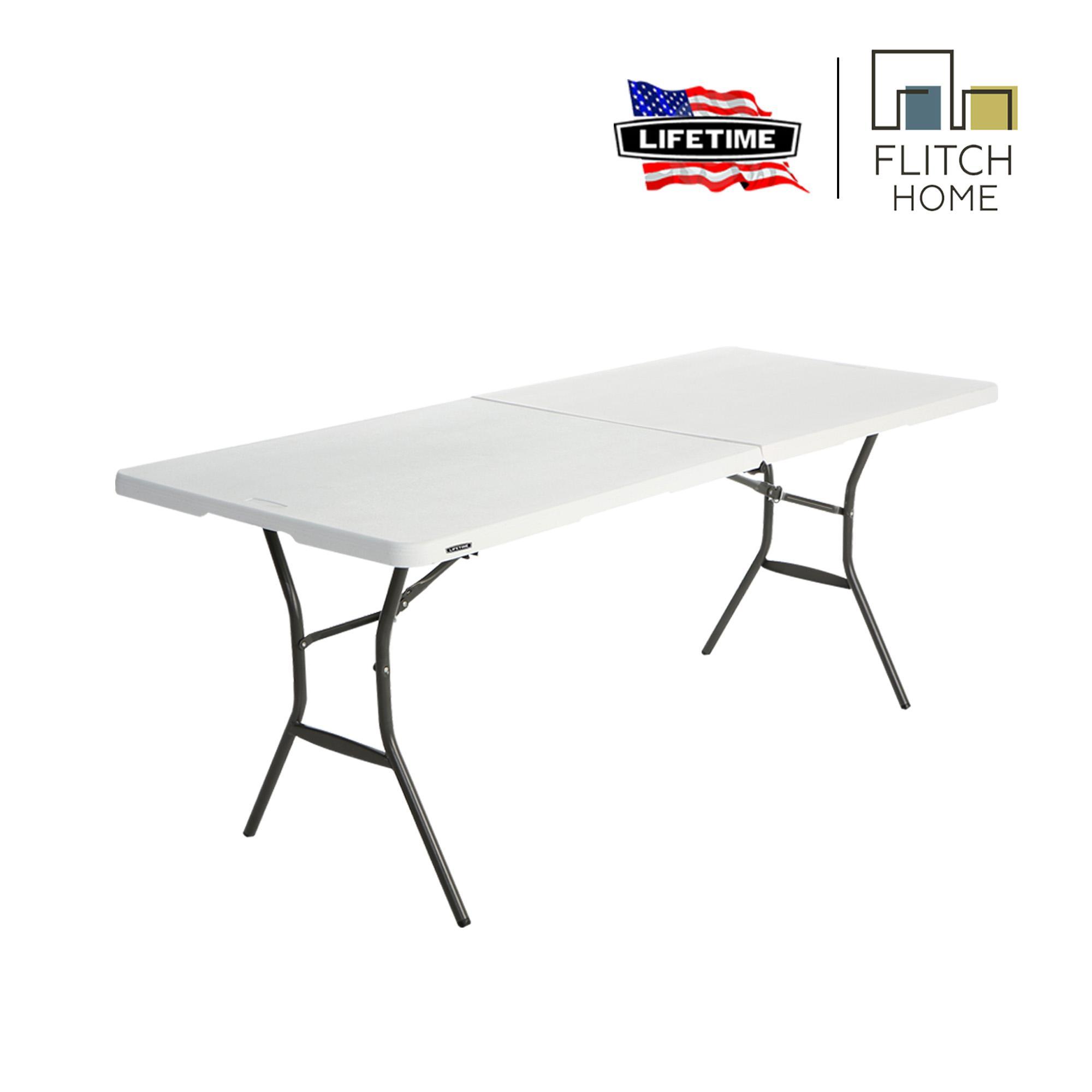 Pleasant Lifetime 5 Ft Fold In Half Table White Download Free Architecture Designs Rallybritishbridgeorg