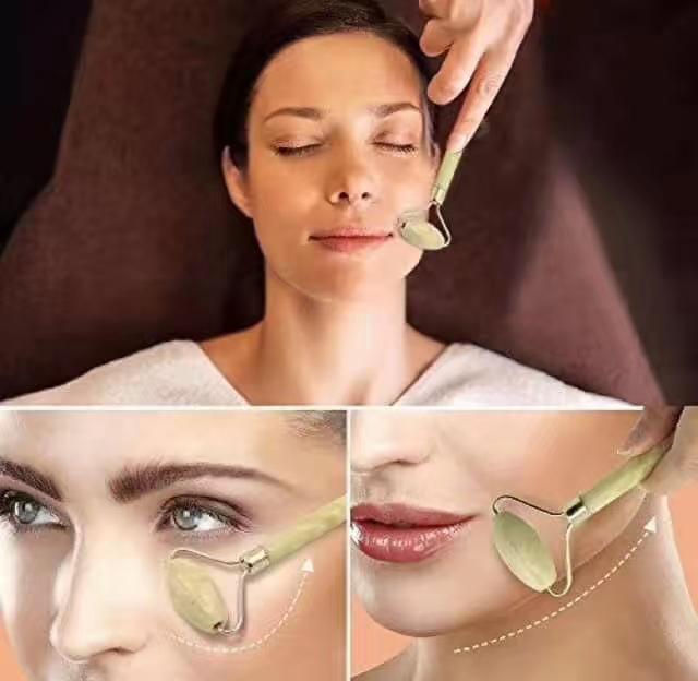 Four Season Beauty Facial Massage Tool Jade Roller Face Thin massager Sleep  & Wellness Premium Anti-Aging Jade Roller For Facial Massage Therapy -