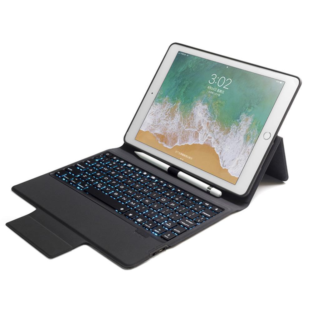 [Ready Stock]ipad keyboard case With 7 Backlit light Bluetooth Keyboard  Case For New iPad 9 7 2017 ipad 2018 ipad 5thipad 6th ipad Air 1 ipad Air 2