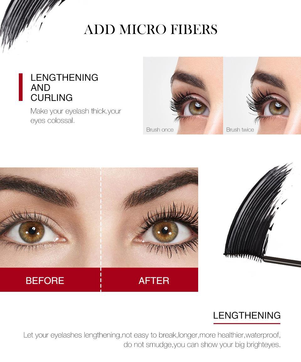 0f049428513 O.TWO.O keindahan Long Eyelashes Extension Silk Fiber Eyelash Black ...