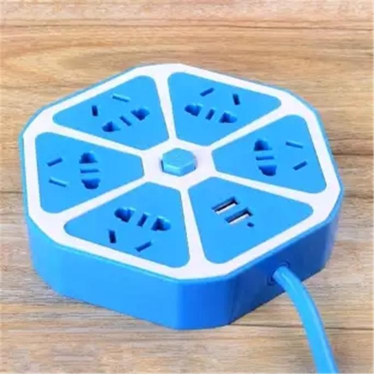 Hexagonal Extension Cord With USB Port Electric Outlet Extension Cord  Extension Cord Power Extension Cord Extension Cord Heavy Duty Extension  Outlet
