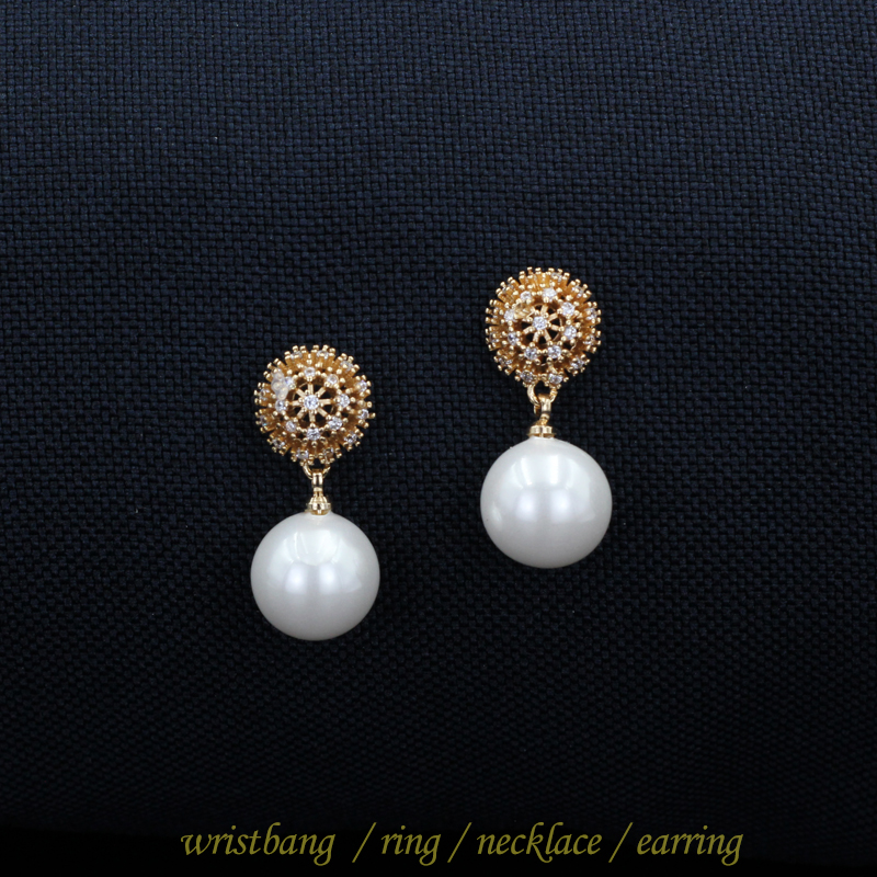 White Freshwater Pearls CZ Sterling Silver Dangles June Birthstone Teardrop Pearl Earrings Bridal Pearl Jewelry Gift Ready to Ship