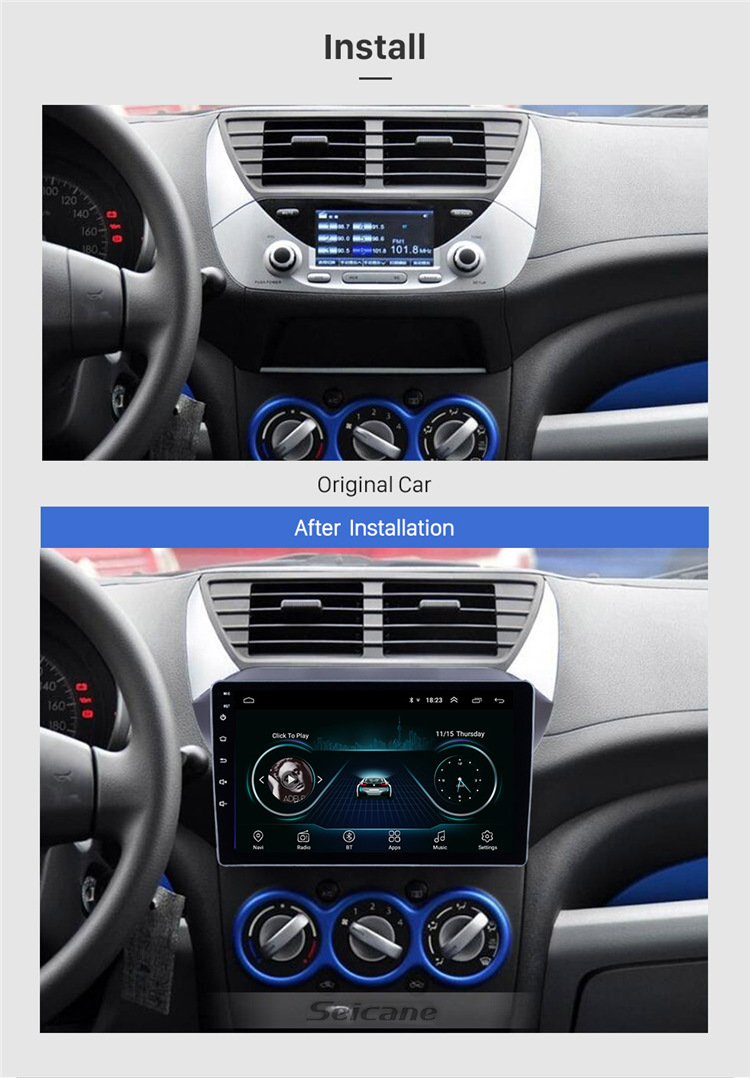 9 inch Android 8.1GPS Navigation for 2009 2010 2011 2012 2013 2014 2015 2016 Suzuki alto Support Mirror Link 3G Bluetooth USB