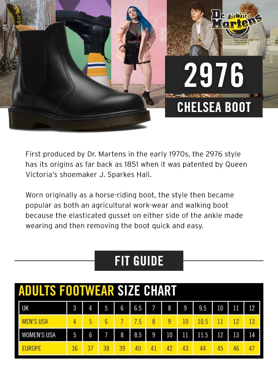87e6b097c5d Dr Martens 2976 Chelsea Boots Black Smooth (Black) For Men And Women
