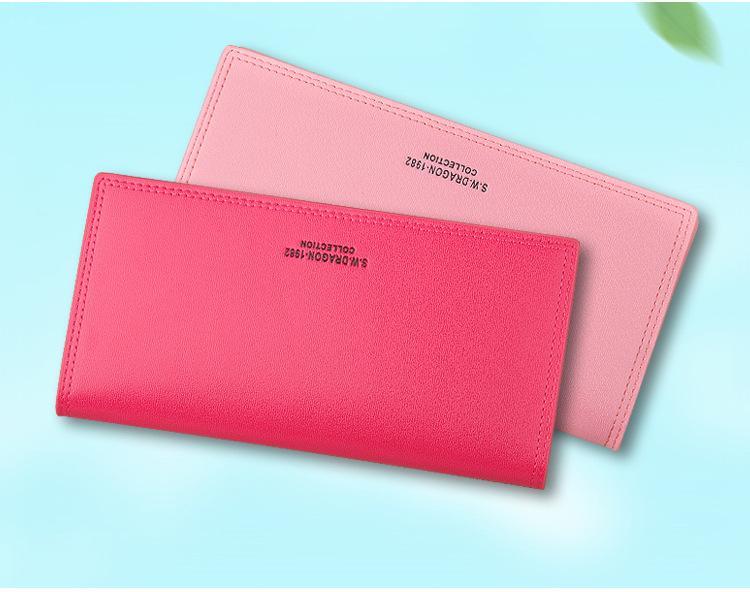 Jamarna Wallet Female Long Clutch Women Wallet Purse Red Magnetic Closure  PU Card Holder Wallet Female New Arrival Zipper