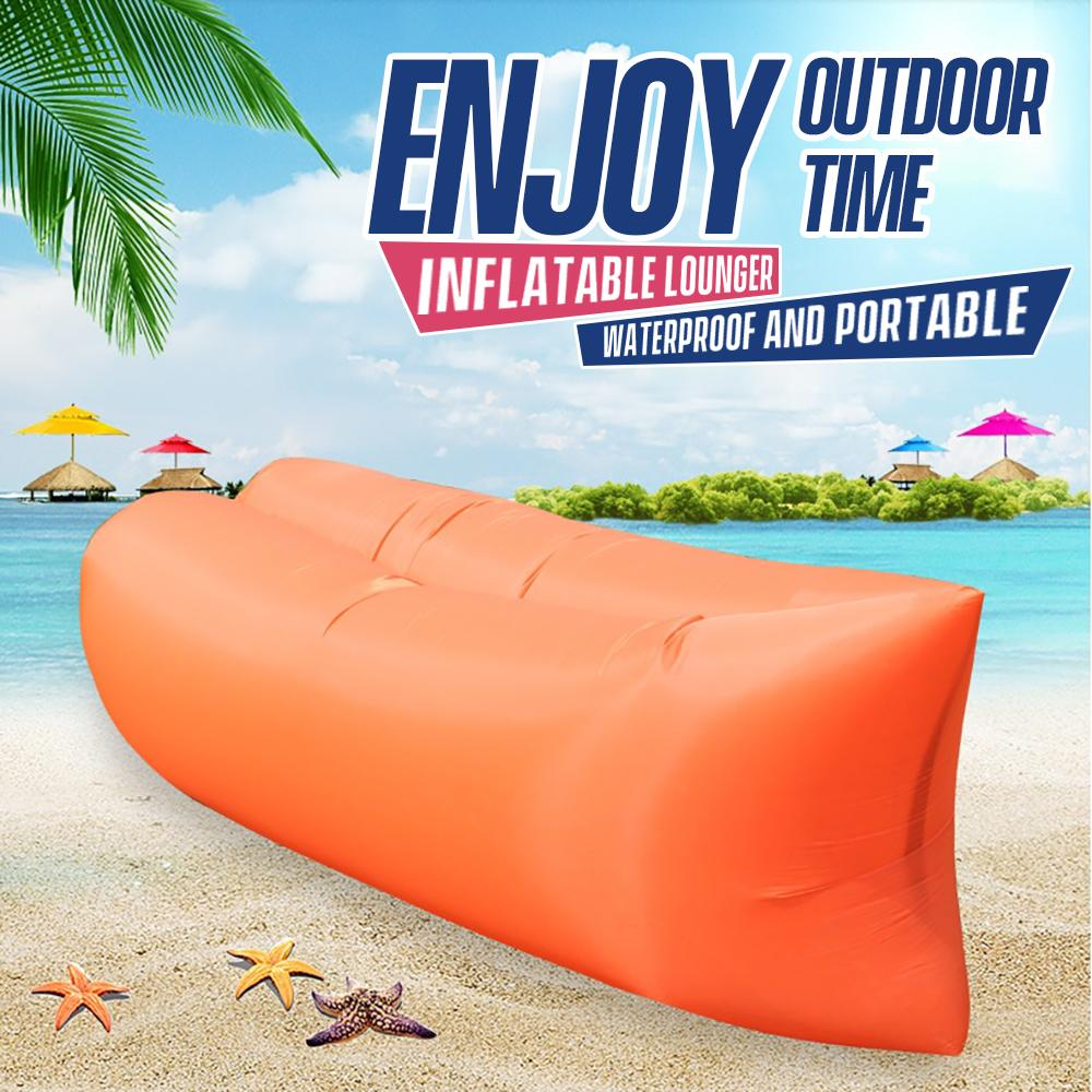Outdoor Portable Inflatable Air Sofa Waterproof Inflatable Lounger Bed Chair for Beach Camping Travel Swimming Pool Hiking Inflatable Sofa