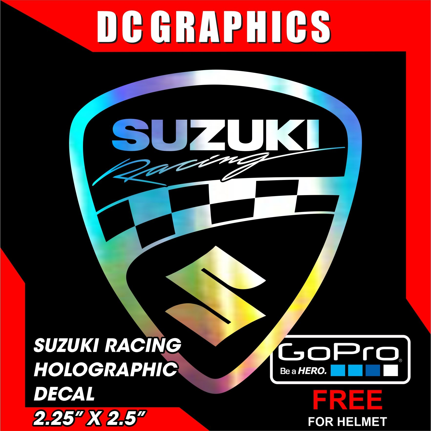 Suzuki Racing Badge Decal Holographic Lazada Ph