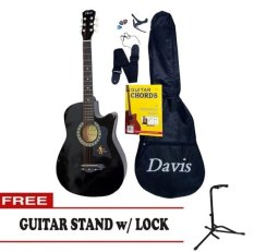 Davis Acoustic Guitar Starter Package Black