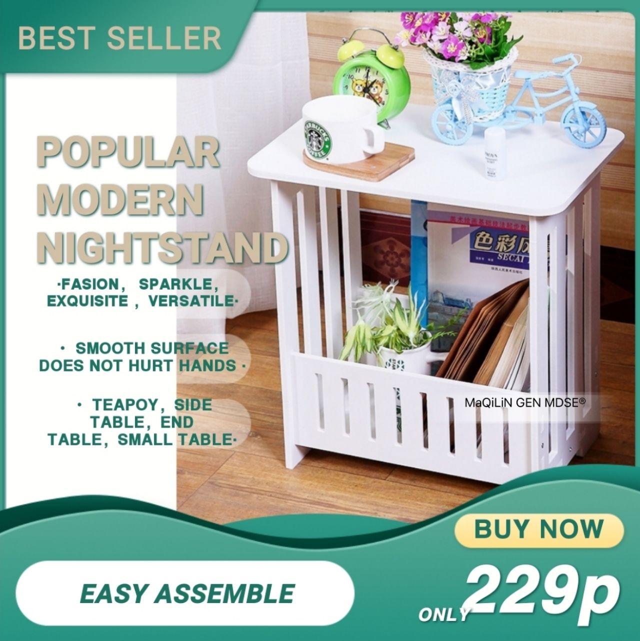 Bedside Mini Table Home Decor Nightstand Ideas Bedroom Simple Living Room Round Leisure Small Tea Table Lazada Ph